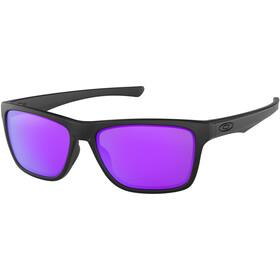 Oakley Holston Sonnenbrille matte black/violet iridium